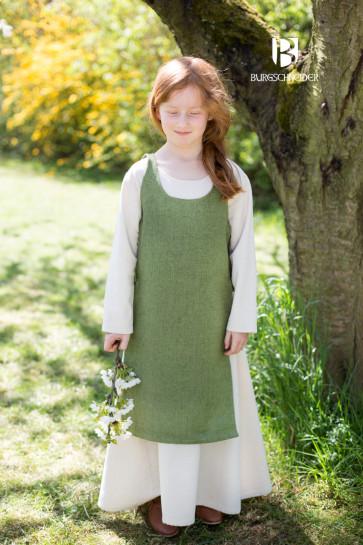 Linden green Childrens Dress Ylva by Burgschneider