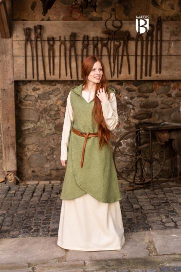 Short linden green Dress Runa