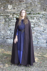 Hooded Cloak Hibernus - Wool Brown