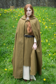 Hooded Cloak Hibernus - Wool Autumn Green