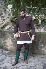 Short tunic Erik - Brown