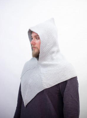 Knitted Wool Gugel Asbjorn - Grey