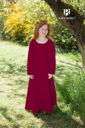Burgundy Childrens Underdress Ylvi by Burgschneider Middle Ages