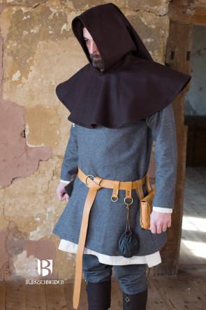 Dark Brown Wool Gugel Cucullus by Burgschneider