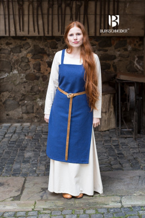 Viking Outfit with apron dress Frida by Burgschneider in blue