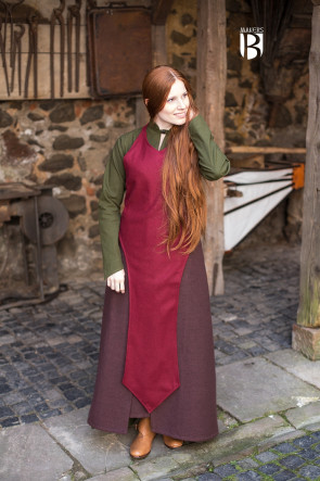 Apron Asua - Wool Red