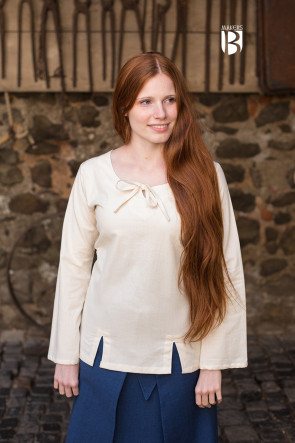 Natural white Women's Blouse Lysia by Butterfly Garden