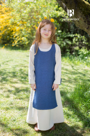 Complete Garment Set for Children with colorful Overdress and Underdress