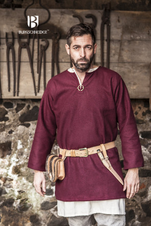 Red Wool Tunic Lodin by Burgschneider for Viking LARP