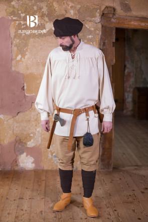Natural white pirate shirt Störtebecker by Burgschneider