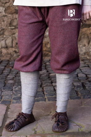 Rus Pants Tilda Herringbone - Burgundy/Grey