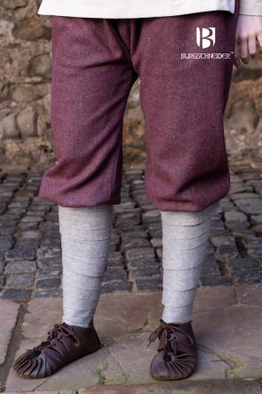 Rus Pants Tilda Herringbone - Burgundy/Grey